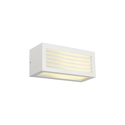 Intalite UK 232491 Box-L E27 Square White Wall Light