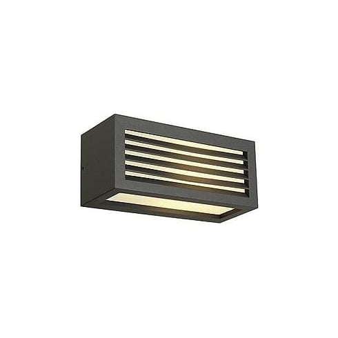 Intalite UK 232495 Box-L E27 Square Anthracite Wall Light