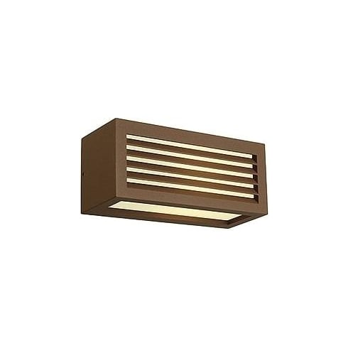 Intalite UK 232497 Box-L E27 Square Rust-Coloured Wall Light