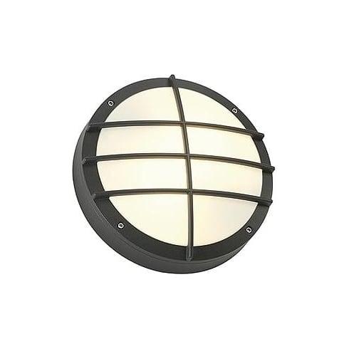 Intalite UK Bulan Grid 229085 Round Anthracite Wall Light