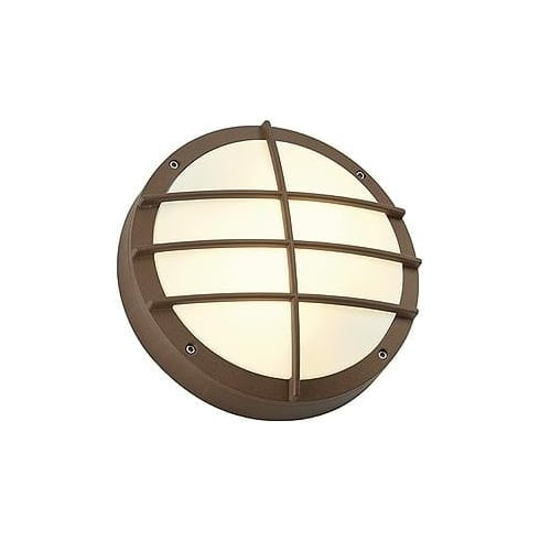 Intalite UK Bulan Grid 229087 Round Rust-Coloured Wall Light