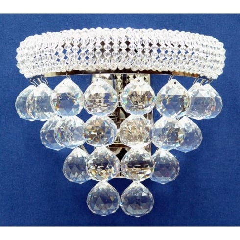 Fantastic Lighting Placido 320/2 Chrome With Crystal Balls Wall Bracket