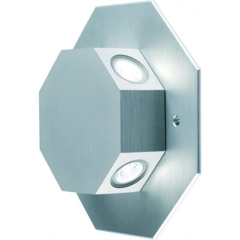 Collingwood Lighting OCTOLED10 MAINS WW Aluminium LED Wall Light