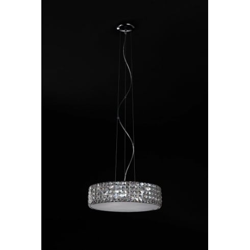 Impex Russell AGORA CFH211232/06/M/CH Polished Chrome With Clear Glass Pendant Medium