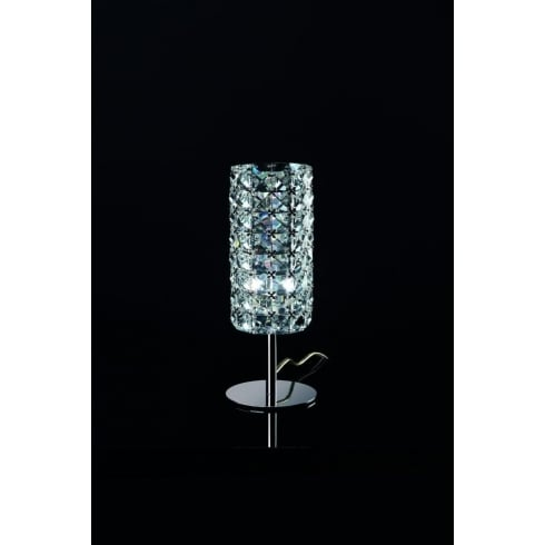 Impex Russell VETA CFH211151/TL/CLR/CH Polished Chrome With Clear Glass Table Lamp