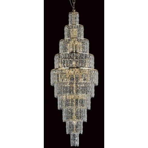 Impex Russell NEW YORK CF03220/24/G Gold With Crystal Detail Pendant