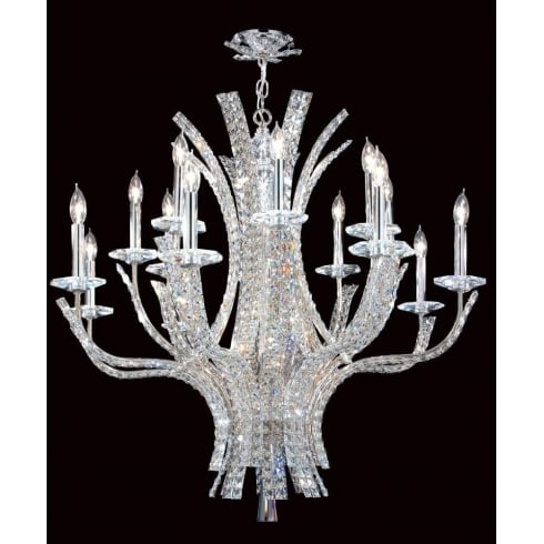 Impex Russell ECLIPSE CO012092/16/CH Polished Chrome With Crystal Detail Chandelier