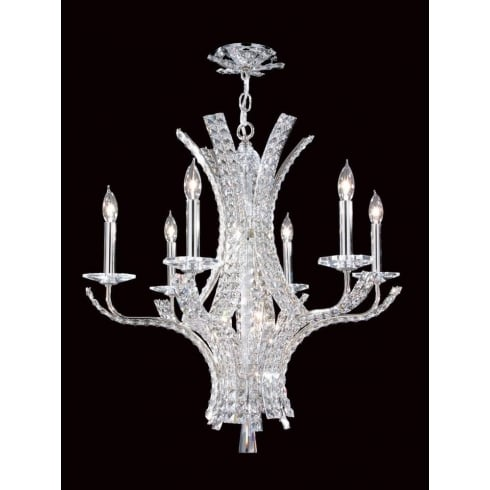 Impex Russell ECLIPSE CO012092/06/CH Polished Chrome With Crystal Detail Chandelier