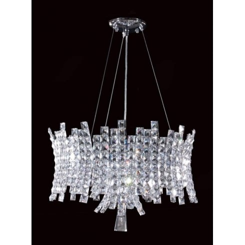 Impex Russell ECLIPSE CO012092/12/CH Polished Chrome With Crystal Detail Chandelier