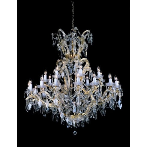Impex Russell MORINA CP04424/24+1 Gold With Crystal Detail Chandelier
