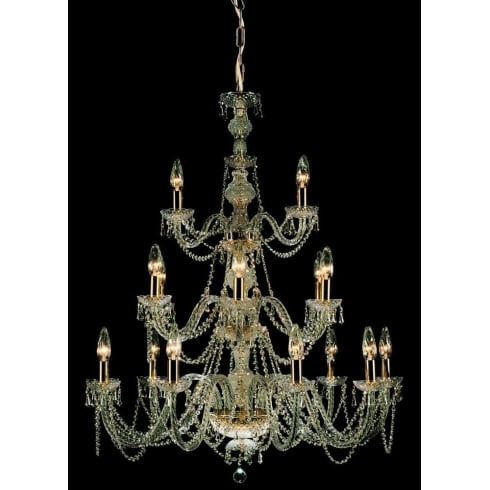 Impex Russell MODRA CP06028/18/G Gold With Crystal Detail Chandelier