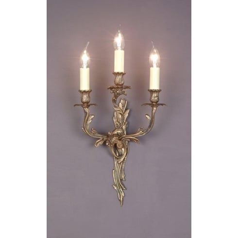 Impex Russell LOUIS SMBB00403/PB Decorative Polished Brass Wall Light