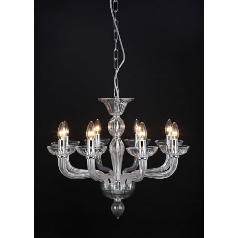 Impex Russell OASIS CF211081/08/CLR/CH Polished Chrome With Clear Shade Pendant