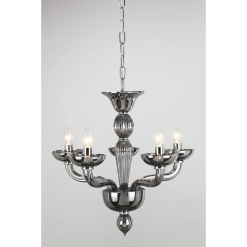 Impex Russell OASIS CF211081/05/SMK/CH Smoked Polished Chrome Pendant