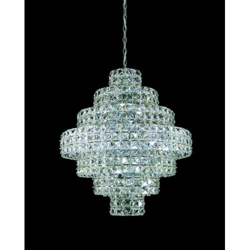 Impex Russell SQUARE CE811141/11/CH Polished Chrome Pendant