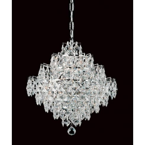 Impex Russell DIAMOND CE01081/12/CH Polished Chrome Pendant