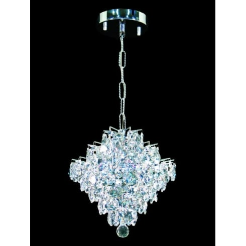 Impex Russell DIAMOND CEH01081/01/CH Polished Chrome Pendant