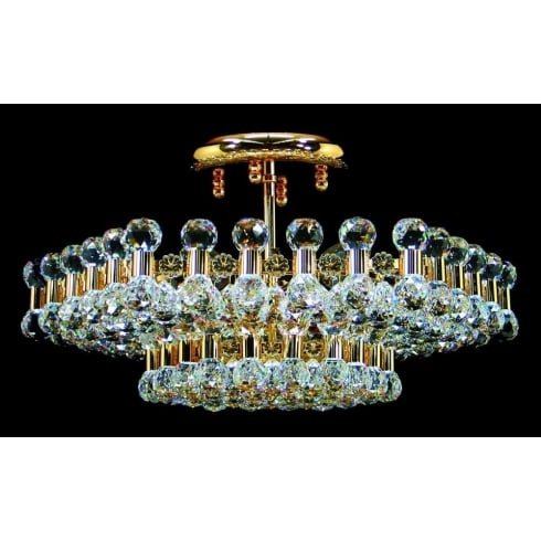 Impex Russell ANCODA CE01007/06/G Gold Flush Pendant
