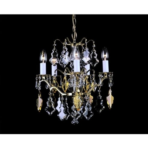 Impex Russell LOUVRE CP06003/05/PB Polished Brass Chandelier