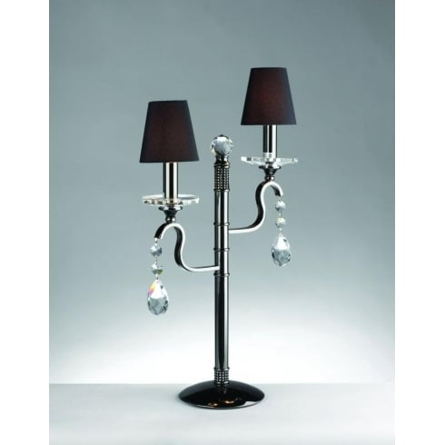 Impex Russell RHINESTONE CPA11813/GM Gun Metal With Shade Table Lamp