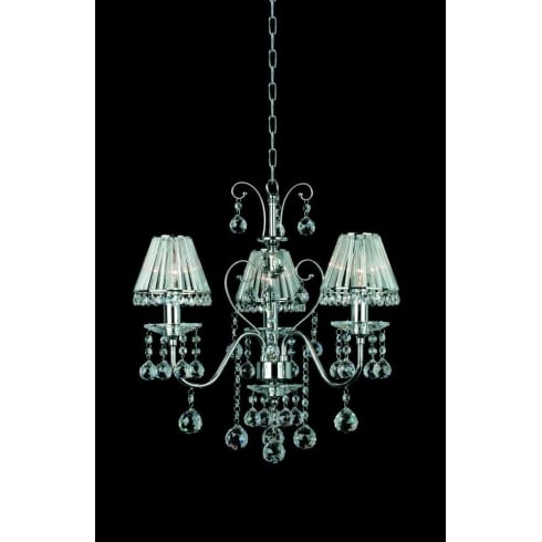 Impex Russell PERPIGNAN CE08800/03/CH Polished Chrome 3 Light Pendant
