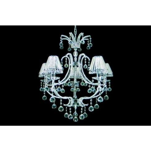 Impex Russell PERPIGNAN CF06691/05/CH Polished Chrome 5 Light Pendant