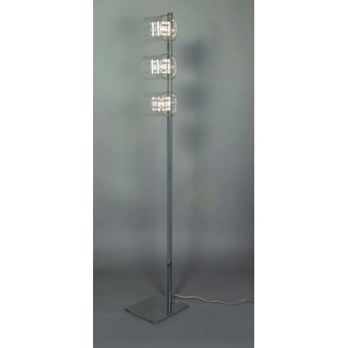Impex Russell AVIGNON PGH01515/FL/CH Polished Chrome With Clear Shade Floor Lamp