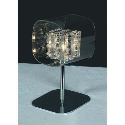 Impex Russell AVIGNON PGH01515/01/TL/CH Polished Chrome With Clear Shade Table Lamp