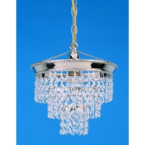 Impex Russell BRUNSWICK ST03072/20/01/N Nickel With Crystal Detail Chandelier