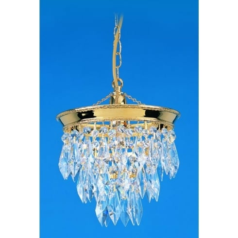 Impex Russell BRUNSWICK ST03073/20/01/G Gold With Crystal Detail Chandelier