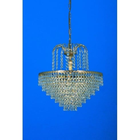 Impex Russell BONN ST00018/40/05/G Gold With Crystal Detail Chandelier