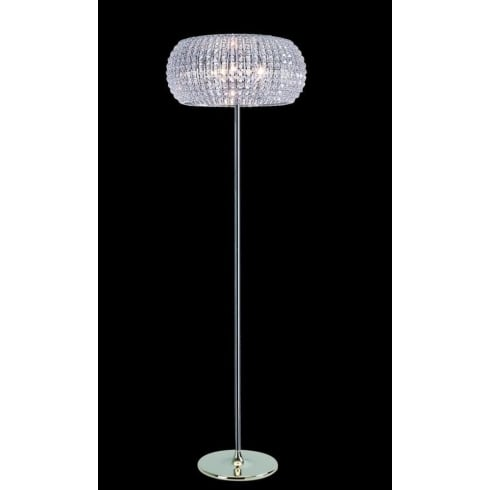 Impex Russell ROME CFH905262/FL/CH Polished Chrome With Crystal Detail Floor Lamp