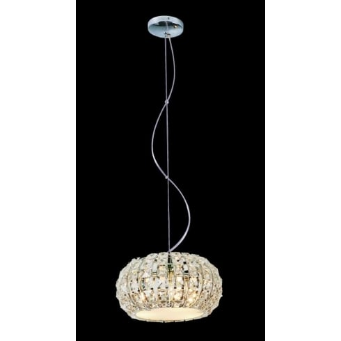 Impex Russell ROME CFH905262/03/CH Polished Chrome With Crystal Detail Pendant