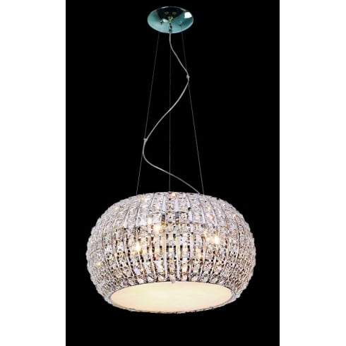 Impex Russell ROME CFH905262/09/CH Polished Chrome With Crystal Detail Pendant