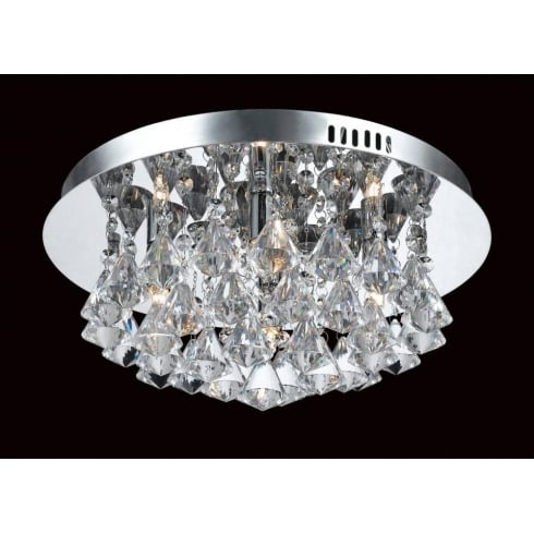 Impex Russell PARMA CFH011025/04/CH Polished Chrome Flush Pendant