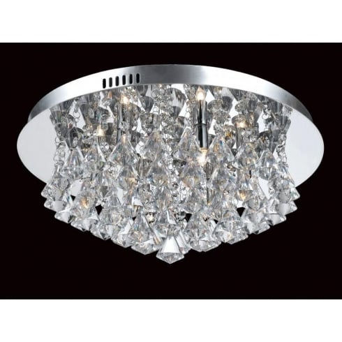 Impex Russell PARMA CFH011025/06/CH Polished Chrome Flush Pendant