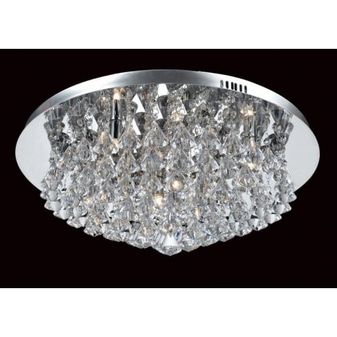 Impex Russell PARMA CFH011025/08/CH Polished Chrome Flush Pendant