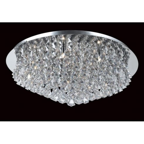 Impex Russell PARMA CFH011025/12/CH Polished Chrome Flush Pendant