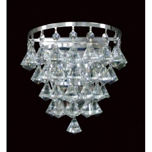 Impex Russell PARMA CFH011025/01/WB/CH Polished Chrome Wall Light
