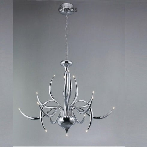 Diyas UK Llamas IL-IL30141 Polished Chrome 15 Light Pendant Ceiling Fitting