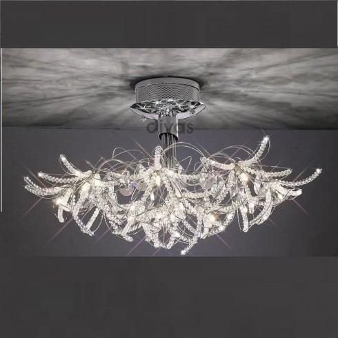 Diyas UK Kenzo IL-IL30880 Polished Chrome Crystal Twenty Four Light Ceiling Light