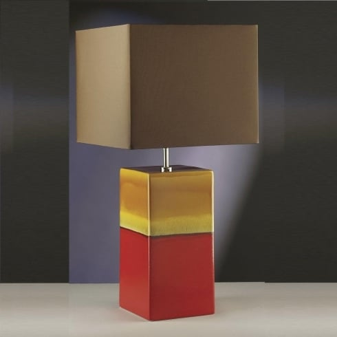 Elstead Lighting Alba Rouge Red & Gold Table Lamp