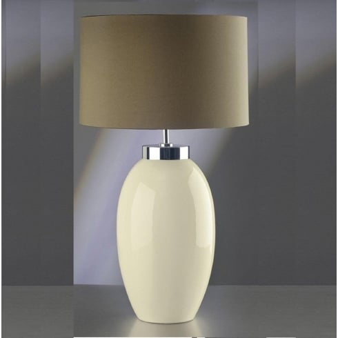Elstead Lighting Victor Cream Table Lamp Large