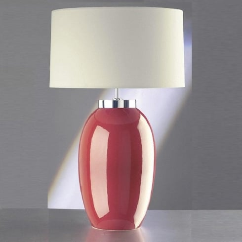 Elstead Lighting Victor Red Table Lamp Large