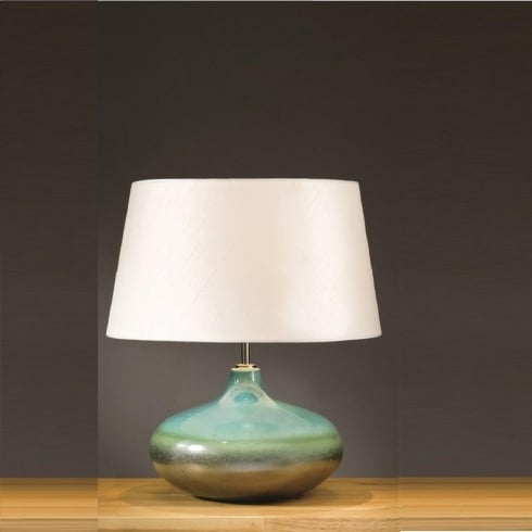 Elstead Lighting Laguna Turquoise & Silver Table Lamp Small