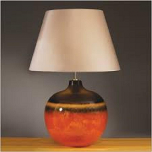 Elstead Lighting Colorado Brown & Orange Table Lamp Large