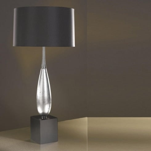 Elstead Lighting Solomon Silver Leaf Table Lamp