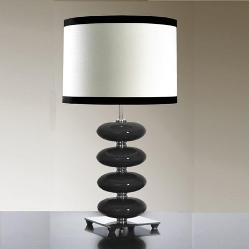Elstead Lighting Onyx Black Table Lamp