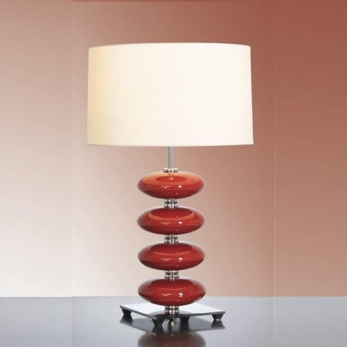 Elstead Lighting Onyx Red Table Lamp