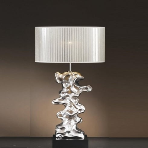 Elstead Lighting Libero Silver Table Lamp